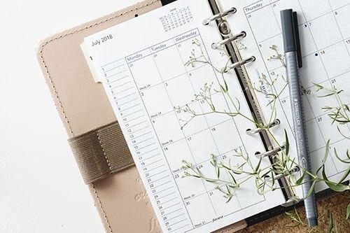 Agenda con planta y boli